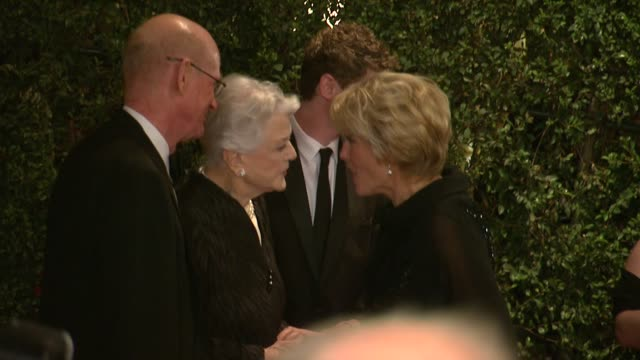 emma thompson angela lansbury at academy of motion picture arts and sciences' governors awards in hollywood ca on - emma thompson stock videos and b-roll footage
