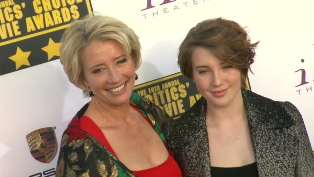 Emma Thompson at 19th Annual Critics' Choice Movie Awards Arrivals at The Barker Hanger on in Santa Monica California