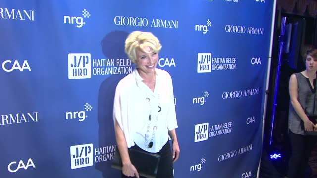 emma thompson at 3rd annual sean penn friends help haiti home gala presented by giorgio armani to benefit j/p haitian relief organization on at... - emma thompson stock videos and b-roll footage