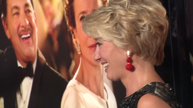 emma thompson at afi fest 2013 opening night gala premiere of disney's saving mr banks in hollywood ca on - emma thompson stock videos & royalty-free footage