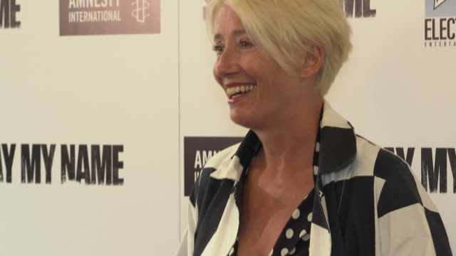 emma thompson at 'say my name' charity gala on april 23 2019 in london united kingdom - emma thompson stock videos & royalty-free footage