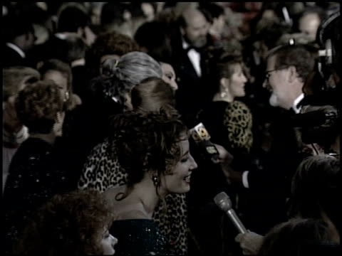emma thompson at the 1993 academy awards at dorothy chandler pavilion in los angeles california on march 29 1993 - dorothy chandler pavilion stock videos and b-roll footage