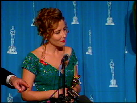 emma thompson at the 1993 academy awards at dorothy chandler pavilion in los angeles california on march 29 1993 - emma thompson stock videos and b-roll footage