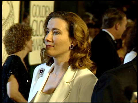 emma thompson at the 1994 golden globe awards at the beverly hilton in beverly hills california on january 22 1994 - emma thompson stock videos & royalty-free footage