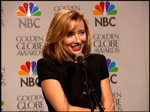 emma thompson at the 1996 golden globe awards at the beverly hilton in beverly hills california on january 21 1996 - emma thompson stock videos & royalty-free footage