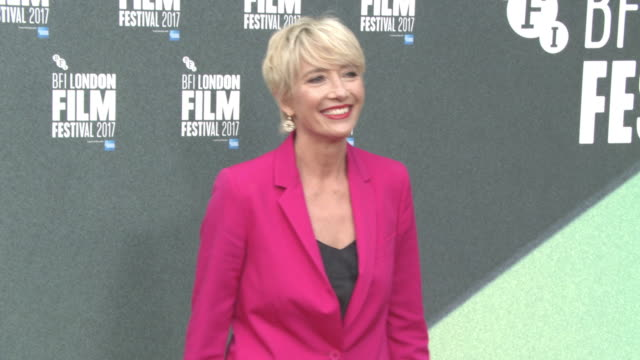 emma thompson at 'the meyerowitz stories' uk premiere 61st bfi london film festival at embankment gardens cinema on october 6 2017 in london england - emma thompson stock videos & royalty-free footage