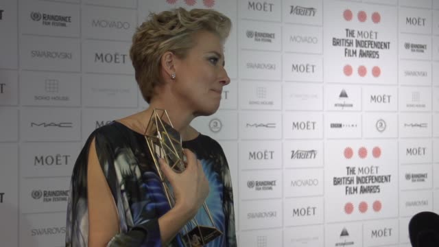 roll emma thompson at the moet british independent film awards 2014 at old billingsgate market on december 07 2014 in london england - emma thompson stock videos & royalty-free footage