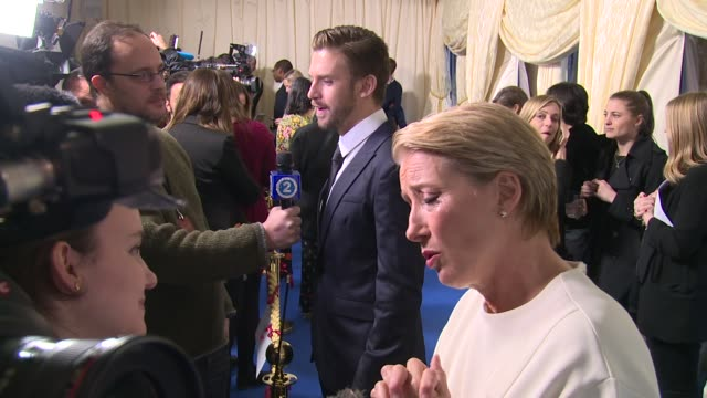 emma thompson dan stevens at spencer house on february 23 2017 in london england - emma thompson stock videos & royalty-free footage