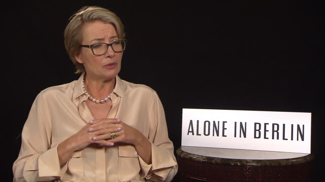 interview emma thompson on death and on alan rickman at 'alone in berlin' interviews 66th berlin international film festival on february 16 2016 in... - emma thompson stock videos and b-roll footage