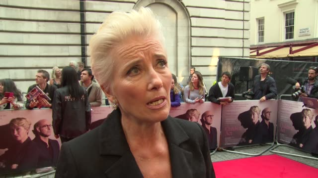 emma thompson on educational opportunities and positions of power for women at the curzon mayfair on august 16 2018 in london england - emma thompson stock videos & royalty-free footage