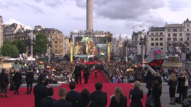 emma watson daniel radcliffe rupert grint jk rowling david yates steve knowles david hayman at the harry potter and the deathly hallows part two... - film premiere stock videos & royalty-free footage