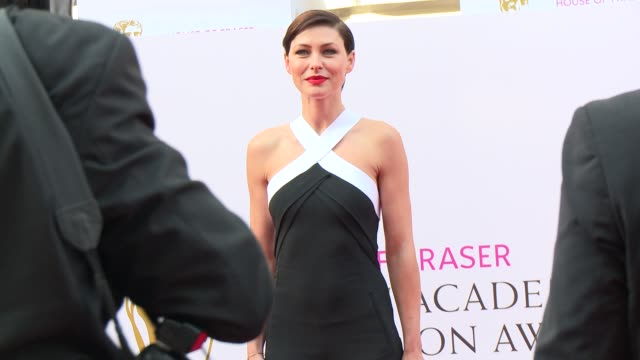 emma willis at house of fraser british academy television awards - television awards stock videos & royalty-free footage