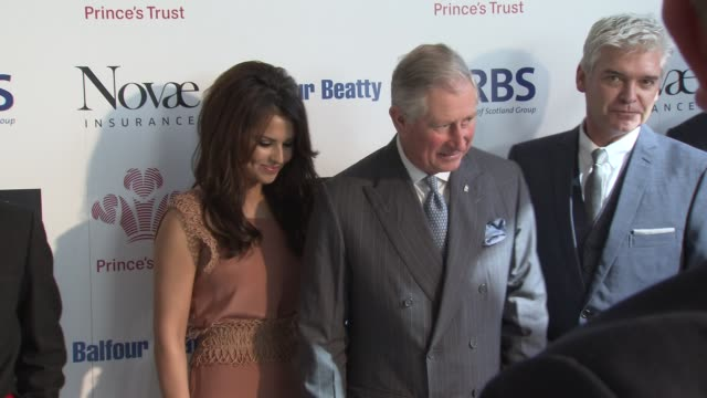 emma willis, cheryl cole, vv brown, dynamo, naomie harris, bruce parry, phillip schofield at the the prince's trust celebrate success awards arrivals... - phillip schofield stock videos & royalty-free footage