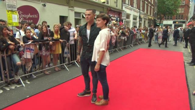 Emma Willis Matt Willis at American Idiot Press Night on July 22 2015 in London England