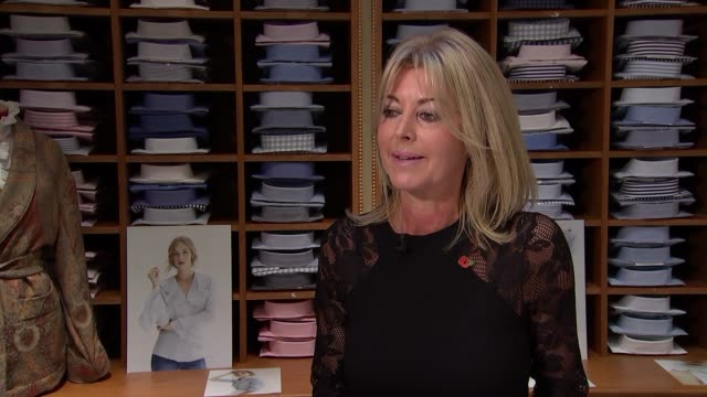 Emma Willis tailors make bespoke shirts for injured service personnel ENGLAND London Jermyn Street INT Emma Willis interview SOT on 'Style for...