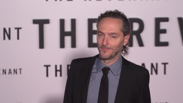 Emmanuel Lubezki at the 'The Revenant' Los Angeles Premiere at TCL Chinese Theatre on December 16 2015 in Hollywood California
