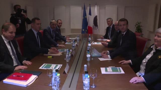 Emmanuel Macron who is on a two day trip to Corsica was welcomed Tuesday evening at the Collectivite territoriale unique to meet with the two...