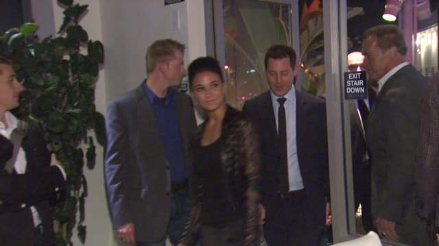 emmanuelle chriqui at arnold schwarzenegger celebrates the launch of his autobiography, total recall with a party at s mixology101 on 10/5/12 in los... - biographie stock-videos und b-roll-filmmaterial