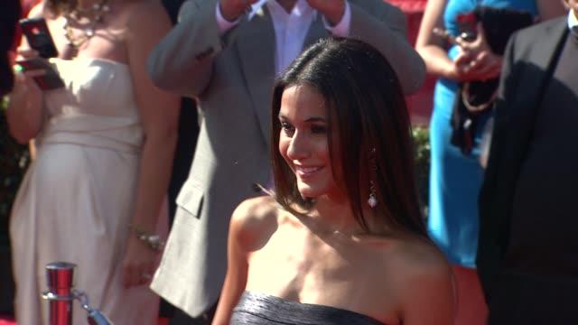 emmanuelle chriqui at the 2011 espy awards at los angeles ca. - espy awards stock videos & royalty-free footage
