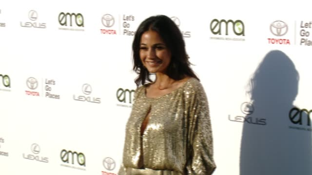 emmanuelle chriqui at the 27th annual environmental media association awards at barker hangar on september 23 2017 in santa monica california - barker hangar stock videos & royalty-free footage
