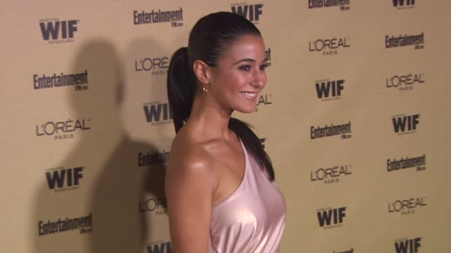 emmanuelle chriqui at the entertainment weekly and women in film pre-emmy party at west hollywood ca. - pre emmy party stock videos & royalty-free footage