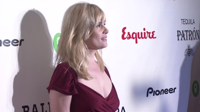 emmanuelle seigner at the oxfam event honoring sean penn and emile hirsch for 'into the wild' hosted by esquire magazine at eqsuire north in new york... - esquire magazine stock videos & royalty-free footage