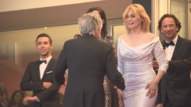 Emmanuelle Seigner Roman Polanski Eva Green at 'Based On A True Story' Red Carpet Official Screening on May 27 2017 in Cannes France