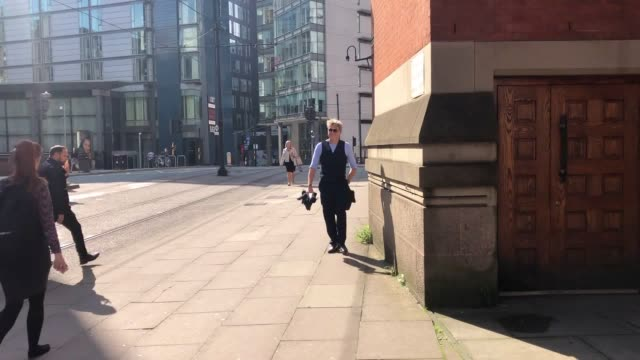 emmerdale actor mark jordon arrives at minshull street crown court in manchester on monday where he is on trial charged with affray unlawful wounding... - soap opera stock videos & royalty-free footage