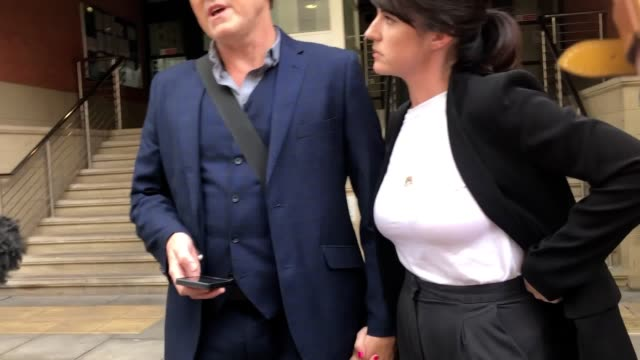 emmerdale actor mark jordon joined by partner laura norton thanks the jury his solicitors and family members outside minshull street crown court he... - soap opera stock videos & royalty-free footage