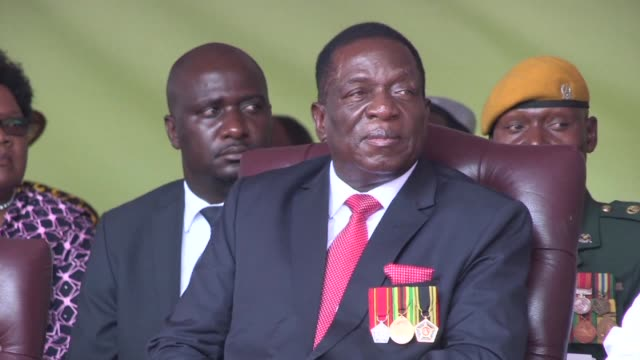 emmerson mnangagwa is sworn in as zimbabwe's president marking the final chapter of a political drama that toppled his predecessor robert mugabe... - zimbabwe stock videos & royalty-free footage