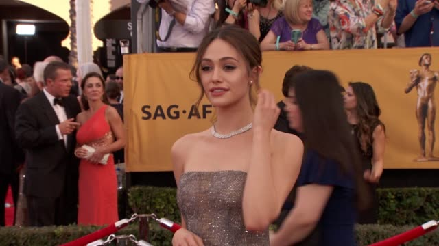 Emmy Rossum at 21st Annual Screen Actors Guild Awards Arrivals in Los Angeles CA