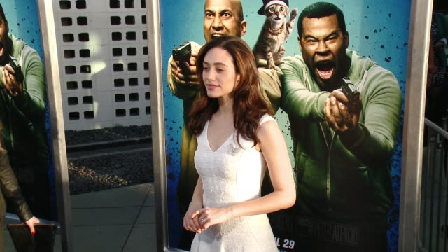 stockvideo's en b-roll-footage met emmy rossum at keanu los angeles premiere at arclight cinemas cinerama dome on april 27 2016 in hollywood california - cinerama dome hollywood