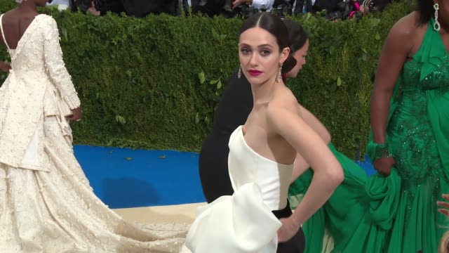 Emmy Rossum at Rei Kawakubo/Comme des Garcons Art Of The InBetween Costume Institute Gala Arrivals at The Metropolitan Museum of Art on May 01 2017...