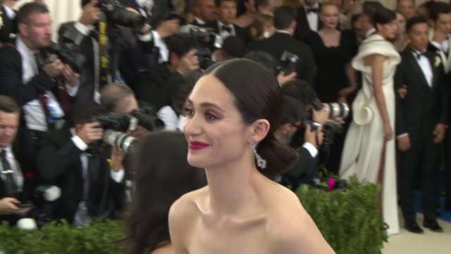 Emmy Rossum at Rei Kawakubo/Comme des Garcons Art Of The InBetween Costume Institute Gala Arrivals at The Metropolitan Museum of Art on May 1 2017 in...