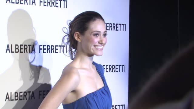 Emmy Rossum at the Alberta Ferretti Celebrates First US Flagship Store Opening at Los Angeles CA