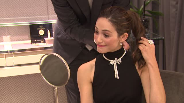 vídeos de stock, filmes e b-roll de emmy rossum at the montblanc rodeo boutique opening at beverly hills ca - emmy rossum