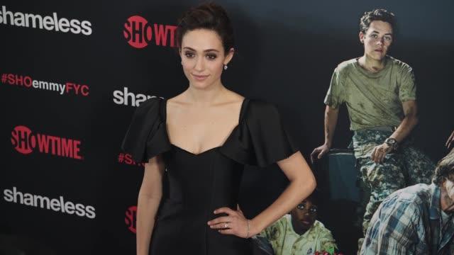 vídeos de stock, filmes e b-roll de emmy rossum at the shameless fyc event at arclight cinemas on may 24 2018 in hollywood california - emmy rossum