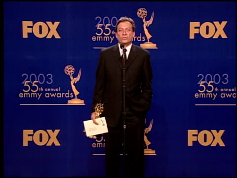 emmy statue at the 2003 emmy awards press room at the shrine auditorium in los angeles california on september 21 2003 - emmy statue stock-videos und b-roll-filmmaterial