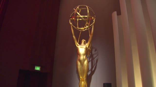 emmy statue at the 62nd primetime emmy awards nominations announcements at los angeles ca - emmy statue stock-videos und b-roll-filmmaterial