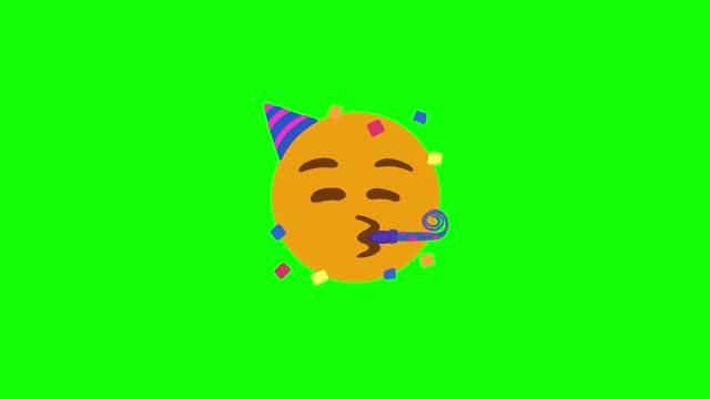 emoji celebration 4k - illustration stock videos & royalty-free footage