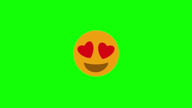 vídeos y material grabado en eventos de stock de emoji en el amor 4k - ícono