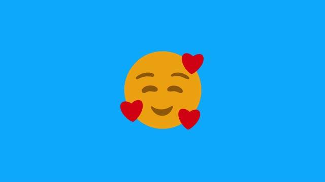 vídeos y material grabado en eventos de stock de emoji en el amor lindo 4k - ícono