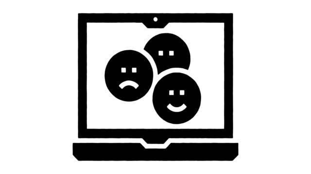 emoji sprache linie zeichnung & tinte splatter offenbaren animation mit alpha - rede stock-videos und b-roll-filmmaterial