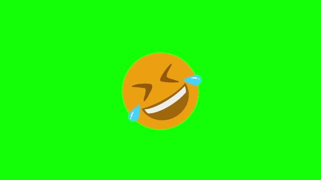 絵文字笑い4k - アイコン点の映像素材/bロール