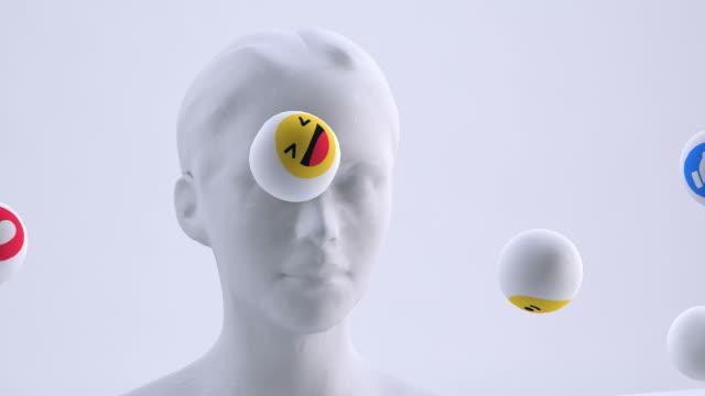emoji person | social interaktion - profil redigerat segment bildbanksvideor och videomaterial från bakom kulisserna