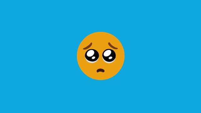 emoji traurig 4k - bedrohung und belästigung stock-videos und b-roll-filmmaterial