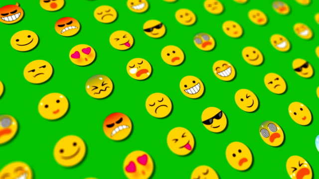 emoticons loopable abstract background - partnership stock videos & royalty-free footage
