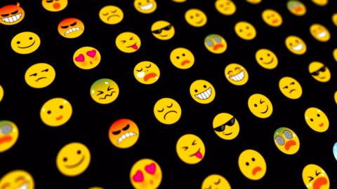 emoticons loopable abstract background - abstract backgrounds stock videos & royalty-free footage