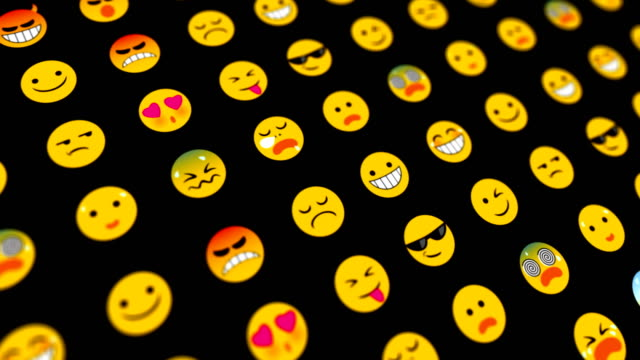 emoticons loopable abstract background - abstract background stock videos & royalty-free footage
