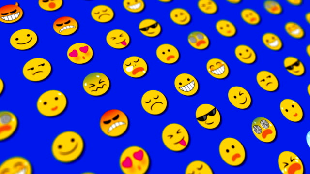 emoticons loopable abstract background - emoticon stock videos and b-roll footage